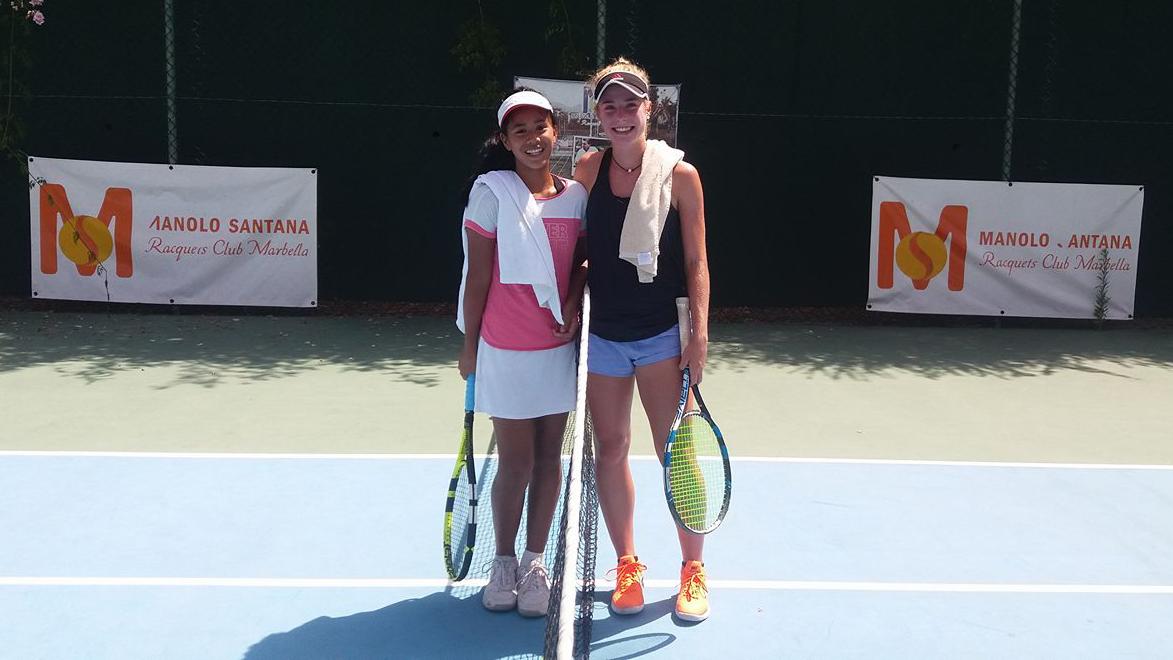 A picture of Jeannie Barcia at the Manolo Santana Raquets Club Marbella